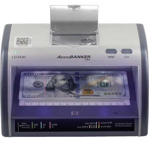 1-AccuBANKER LED430 Geldscheinprüfer