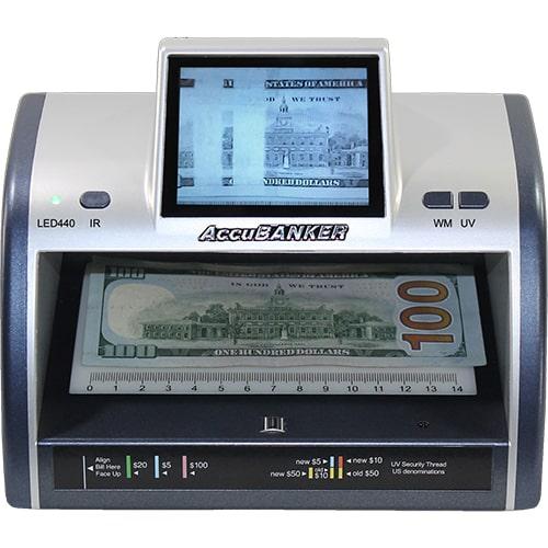 1-AccuBANKER LED440 Geldscheinprüfer